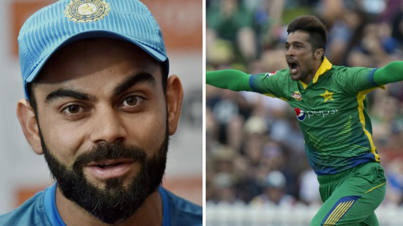 Recalling the final, Mohammad Amir spoke on the importance of getting captain Virat Kohli's wicket.(Photo: PTI / AP)