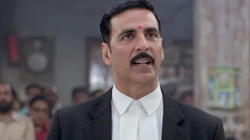 Akshay in a still from 'Jolly LLB 2'.