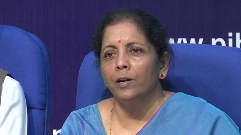 Finance Minister Nirmala Sitharaman also said that the government's capital expenditure was on track and Budget estimates would be met. (Photo: File   ANI)