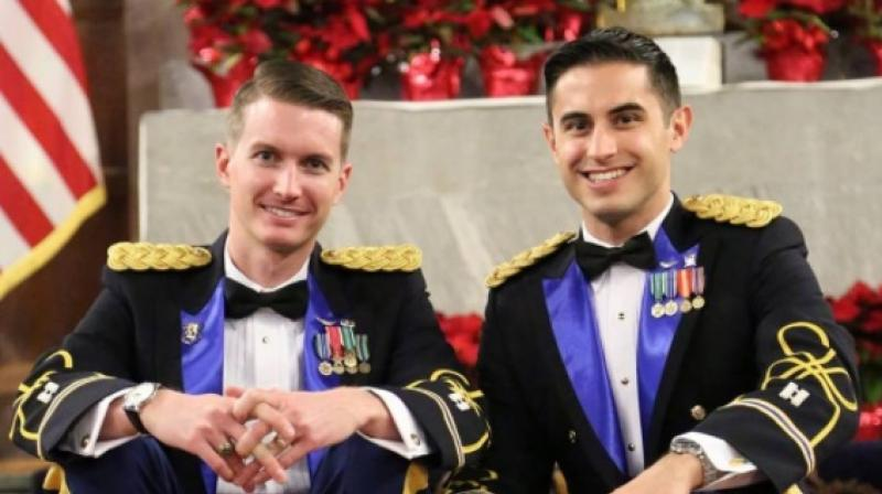 Helicopter pilots become first active-duty same-sex couple to marry