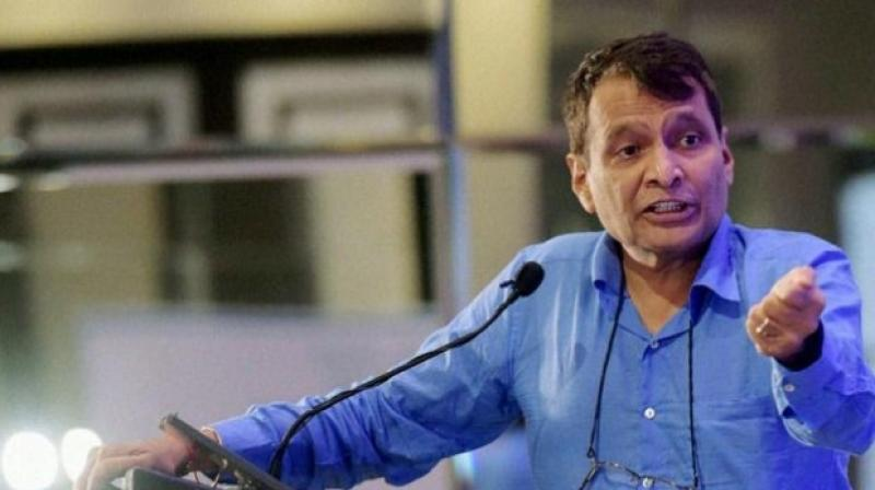 India plans to construct 100 airports at an estimated cost of USD 60 billion (about Rs 4.2 lakh crore) in the next 10 to 15 years, Civil Aviation Minister Suresh Prabhu said on Tuesday. (Photo: PTI)