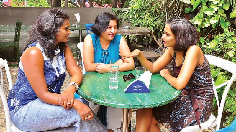 Deepti Mahesh, Nidhi Pathak and Prateeti Shukla  (Photo: Satish B)