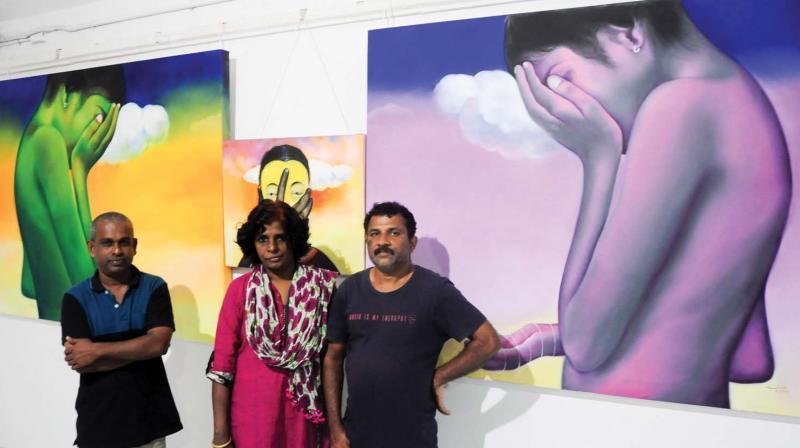 Mukundan A.V, Anitha T.K, Sudhish Kandampully(from left)
