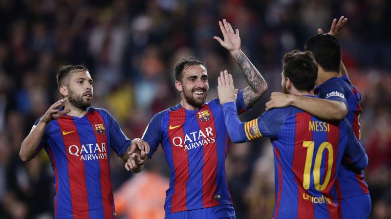 Lionel Messi added an assist as Barcelona saw off a dangerous Real Sociedad side 3-2 at Camp Nou. (Photo: AP)