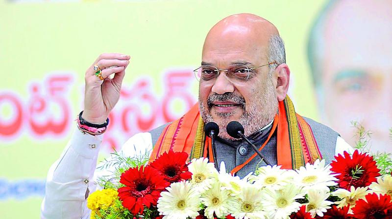 Addressing the party's booth-level workers at Bamora near Sagar town in Madhya Pradesh, Shah said an IAF official at a press conference asserted that the IAF had hit terror targets. (Photo: File)