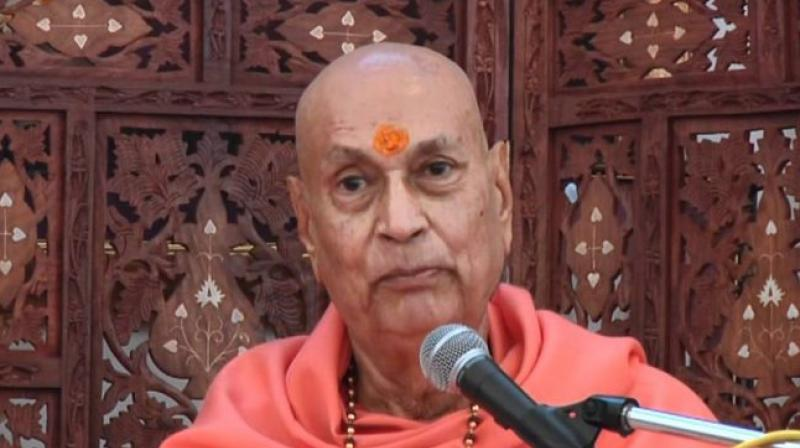 Swami Satyamitranand Giri ji established many learning centres & travelled across the globe to spread the message of Sanatana Dharma,' the vice president said. (Photo: Twitter)