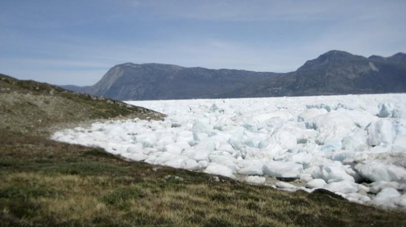 Even though temperatures will be going down in Greenland by the end of this week, the ice melt is not likely to stop anytime soon. (Photo: AP)