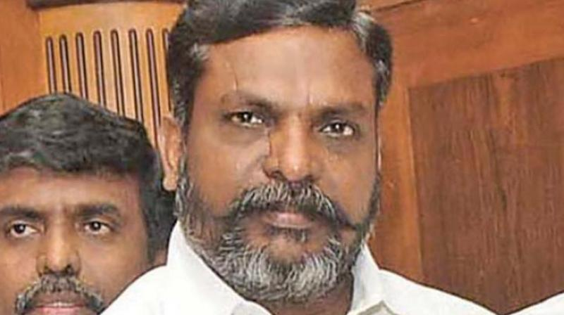 VCK leader Thol Thirumavalavan (Photo: File)
