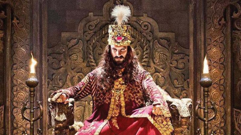 Ranveer Singh as Alauddin Khilji in 'Padmaavat.'