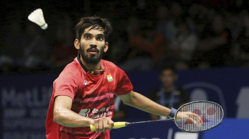 Kidambi Srikanth improved a rung to be at the 4th position, while promising Indian shuttler Lakshya Sen entered the World top 100 after jumping 19 places to reach the 89th spot in the latest BWF ranking on Thursday.(Photo: PTI)