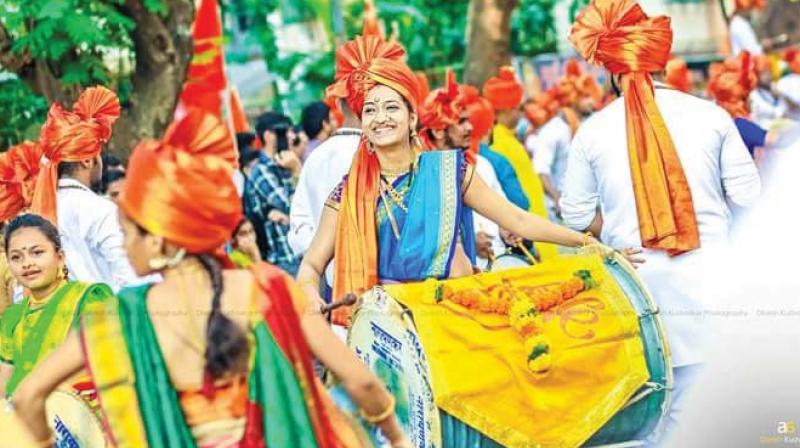 """I used to feel so thrilled listening to the different variations of music through dhol. So a few years ago, I joined the group from our area,"""" says Rahul Sawant of Ram Garjana Dhol tasha pathak in Andheri east."""