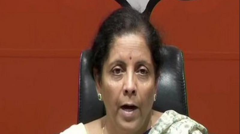Sitharaman said that the current 2019 Lok Sabha elections are a crucial one for the country. (Image: ANI)