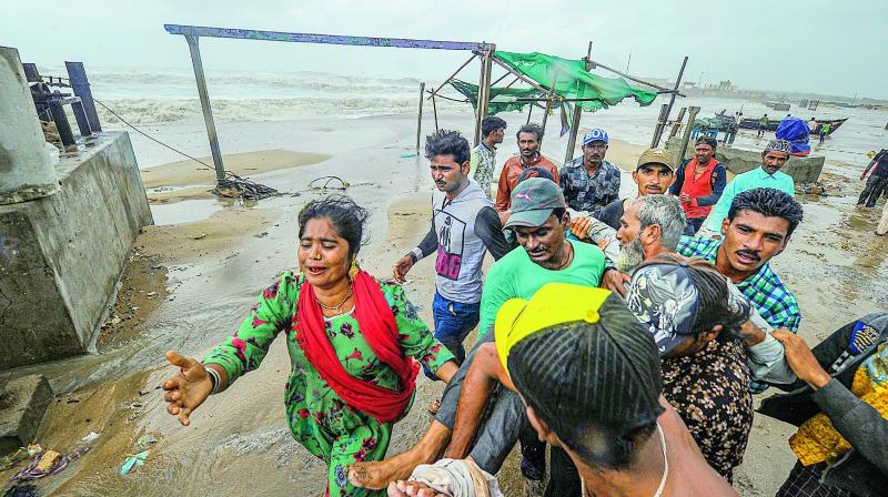 The IMD statement informed that the cyclone moved westwards with a speed of about 6 km per hour overnight before positioning itself around 275 kilometres west-southwest of Porbandar and 330 kilometres west-southwest of Veraval on Saturday morning. (Photo: File)