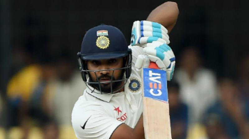 Rohit Sharma underwent a thigh surgery in November 2016, which ruled him out of consecutive Test series against England, Bangladesh, and Australia.(Photo: AFP)