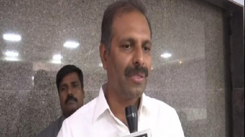 Speaking to media, Gadikota Srikanth Reddy said, 'Naidu in 2016 claimed that the residence in which he was staying was a government building. Now he and his party claim that the residence is the property of some other private individual.' (Photo: ANI)