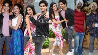 Bollywood stars stepped out for promotions of their upcoming films in Mumbai on Wednesday. (Photos: Viral Bhayani)