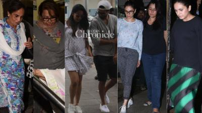Paparazzi had a field day on Wednesday as they snapped Bollywood celebrities at various places in Mumbai. (Photos: Viral Bhayani)
