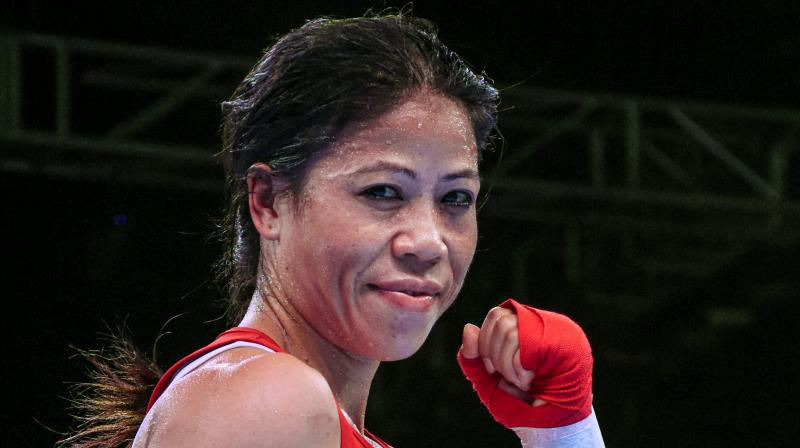 Mary Kom, a six-time world champion and an Olympic bronze-medallist, was chosen by the BFI selection panel based on her gold medal-winning performances at the India Open and a subsequent tournament in Indonesia.  (Photo:PTI)