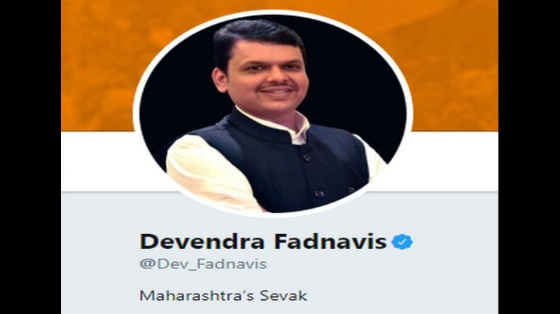 Earlier, after resigning on November 8, Fadnavis had updated his twitter bio, changing it to 'caretaker chief minister' from 'Chief Minister'. (Photo: Screengrab)