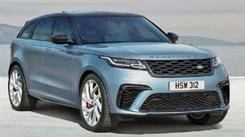 The range-topping  Velar also features improved  brakes (395mm  front and 396mm rear)  with four pistons, alongside  firmer air chambers  for the air suspension.