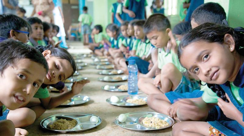 Underprivelidged kids at the Parikrma Humanity Foundation