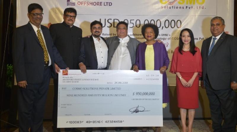 Left to Right: Mr. Manoj Todi, Mr. Mahendra Joshi, Mr. Nitin Gupta, Dr. Sailesh Lachu Hiranandani, South Africa Parliament Speaker Mrs. Baleka Mbete, Miss Wendy Wong, Mr. Dato Ramakrishna Nair
