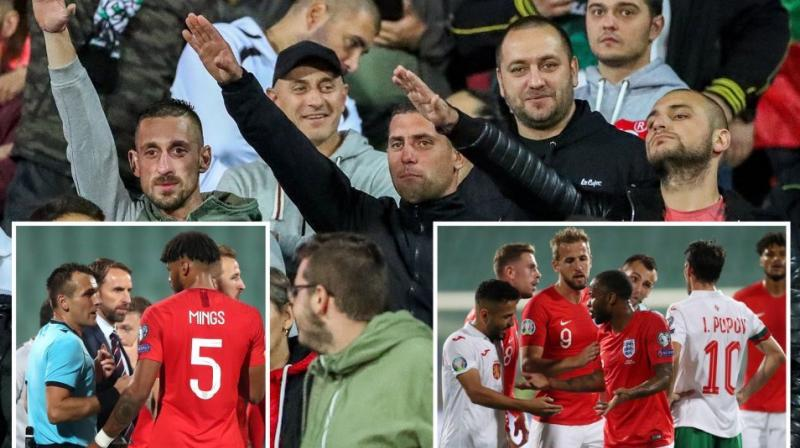 UEFA is expected to wait for reports from the match delegate and referee before charging the Bulgarian soccer federation. (Photo: Twitter)