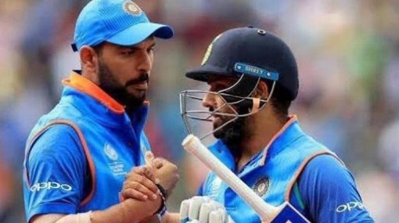 Rohit Sharma needs 26 runs to surpass World Cup-winning all-rounder Yuvraj Singh in the list. (Photo: AFP)