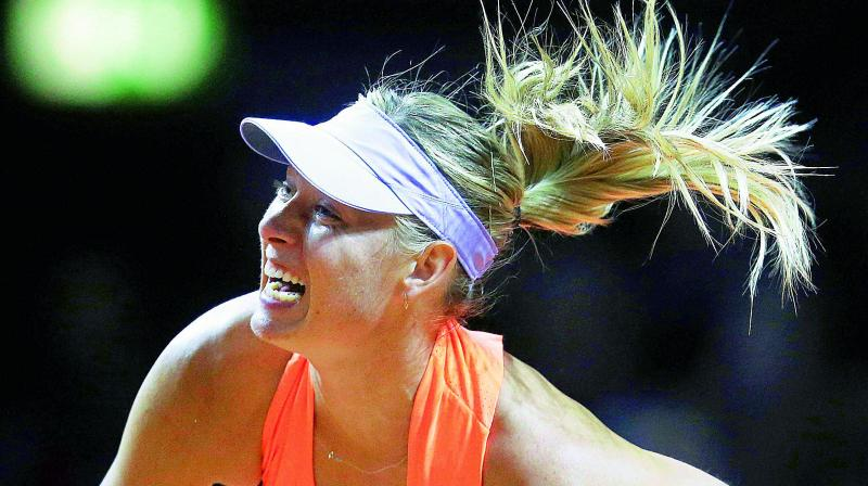 Maria Sharapova picked up the second win on her comeback from a 15-month doping ban on Thursday.