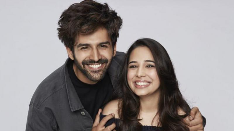 Kartik Aaryan with his sister Kritika.