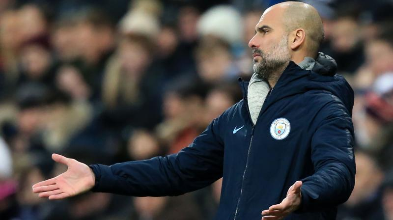 Guardiola can be thankful City will go into the match at the Etihad Stadium only five points behind leaders Liverpool. (Photo: AFP)