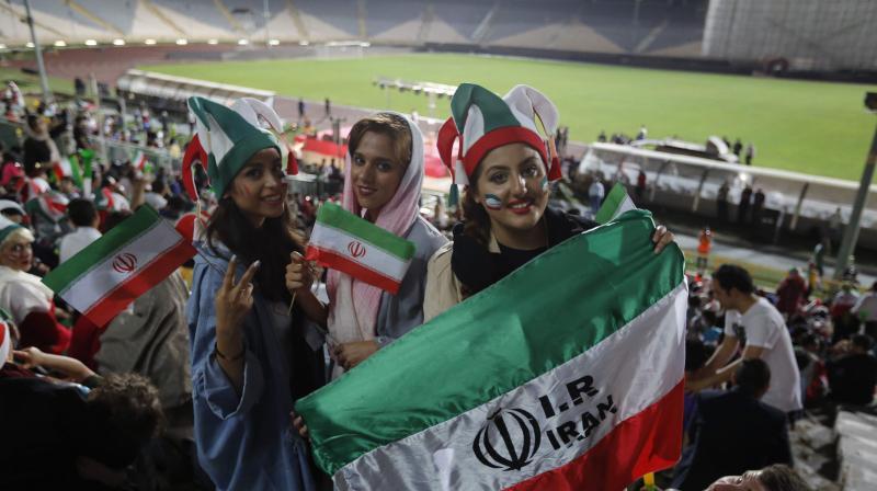 Iran  women in stadiums