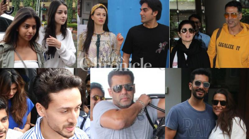 Several B-Town celebrities stepped out with their lovers, friends and spouses while some were solo as they stepped out in Mumbai on Sunday. (Photos: Viral Bhayani)