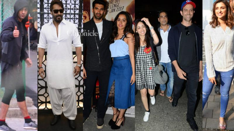 Ranbir Kapoor, Ajay Devgn and several other stars were spotted for professional and personal commitments in Mumbai on Sunday. (Photo: Viral Bhayani)