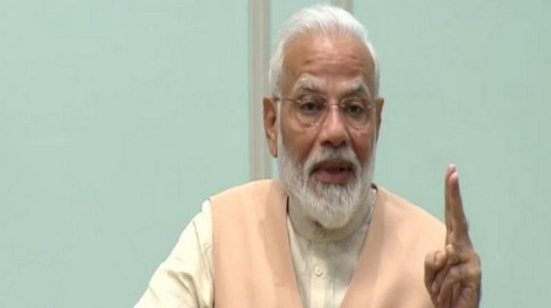 Prime Minister Modi said that a section of people are working to project technology as anti-people and asserted that technology only benefits humanity if it is used with good intentions. (Photo: ANI)
