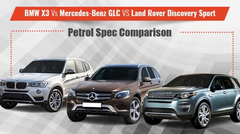 spec comparison of bmw x3 with mercedes benz glc and land rover discovery sport. Black Bedroom Furniture Sets. Home Design Ideas