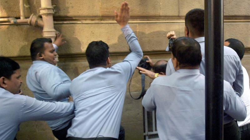 Private Security Personnel Of Tata Group Assault Photojournalists Who Had  Assembled Ahead At Bombay House For
