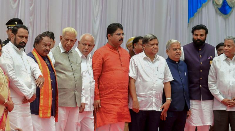 The B S Yediyurappa-led government has appointed three deputy chief ministers among the 17 ministers inducted. (Photo: PTI)