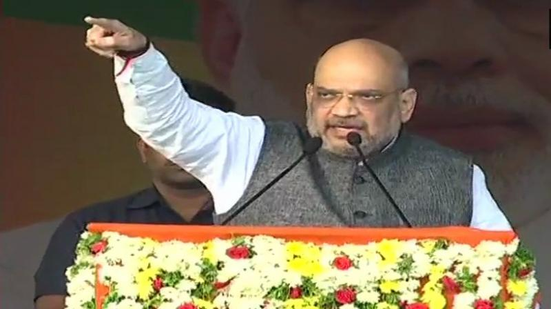Shah reiterated that the saffron party was not in favour of reservations based on religion as it was against the Constitution. (Photo: ANI  Twitter)