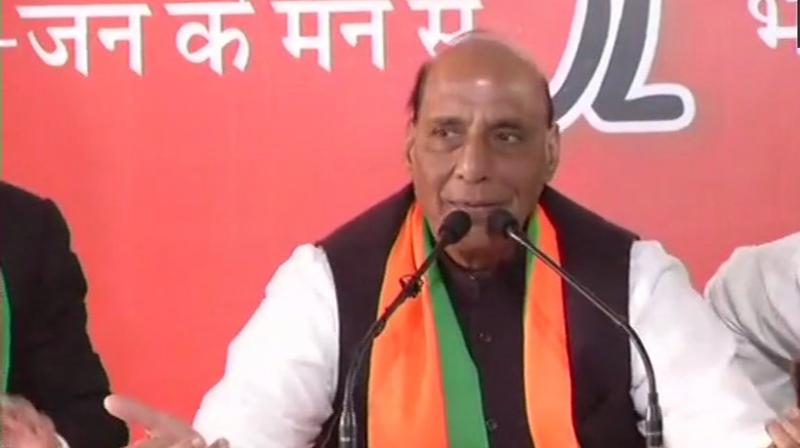 Addressing a press conference in Jaipur, he said that Jammu and Kashmir was not an issue as it was an integral part of the country.  (Photo: ANI   Twitter)