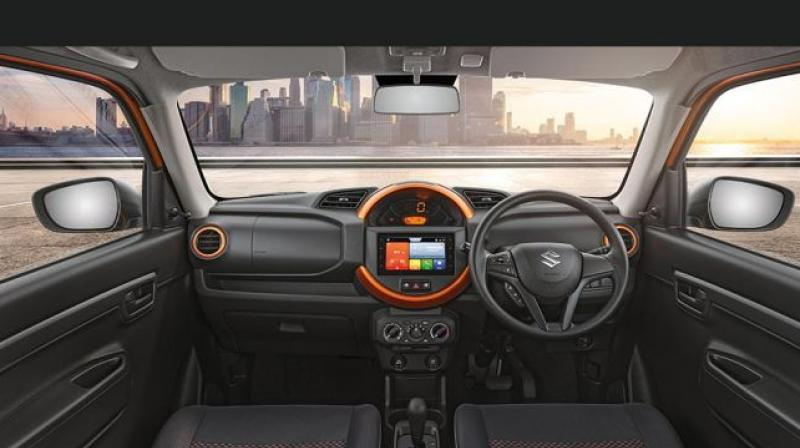 The S-Presso gets a centrally located instrument cluster.
