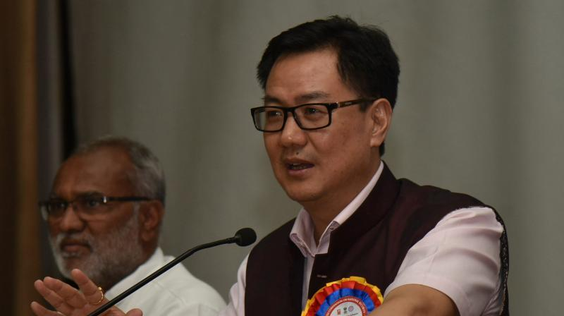 "Kiren Rijiju said that we are moving forward with new thinking for sports and for their promotion, the Government of India has started the ""Khelo India programme"" in 2016-17. (Photo: DC)"