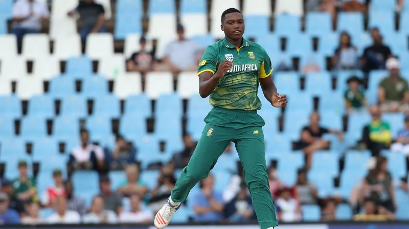 Lungi Ngidi is a part of the South African side that is touring India and will play for the Africans in the Test series. (Photo: BCCI)
