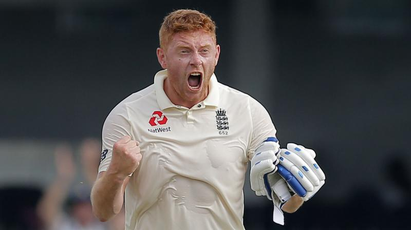 Bairstow took off his helmet and let out a roar before dropping his bat and pumping his fists in an animated celebration. (Photo: AP)