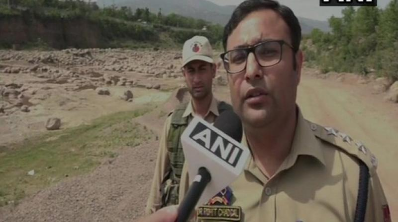 Udhampur Deputy Superintendent of Police Rohit Chadgal. (Photo: Twitter/ ANI)