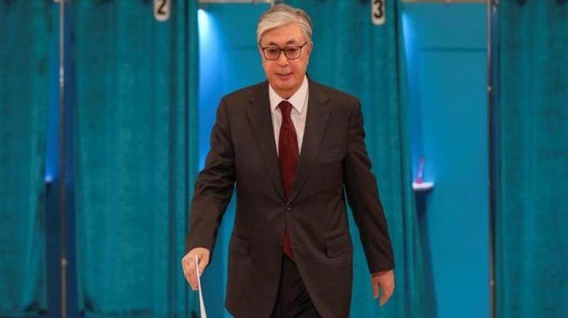 Kassym-Jomart Tokayev votes during Presidential election. (Photo: ANI)