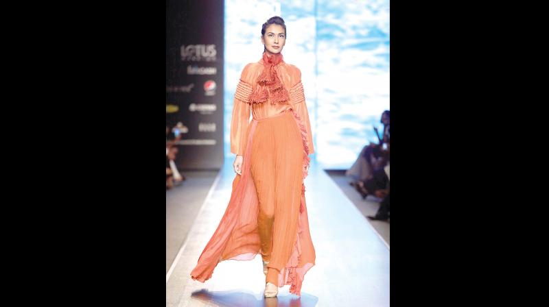 A pleated outfit by Nidhi Yasha