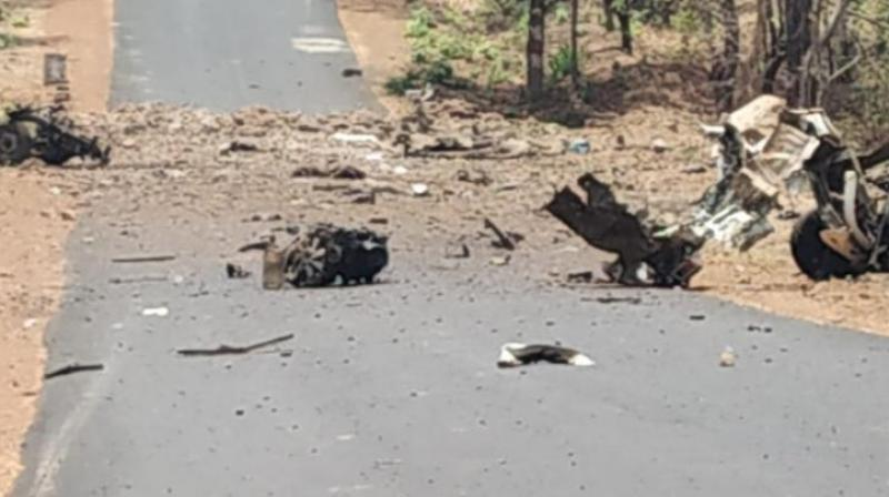 The deceased security personnel belonged the Quick Response Team (QRT) of Maharashtra's Gadchiroli police. (Photo: ANI)