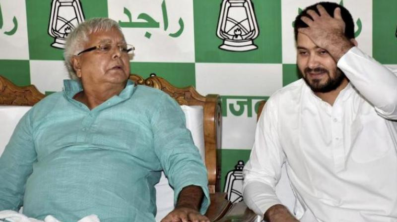 Tejashwi Yadav had on April 7 alleged that the BJP government did not permit him to meet his father Lalu Prasad, who is admitted in the Rajendra Institute of Medical Sciences. (Photo: File | PTI)