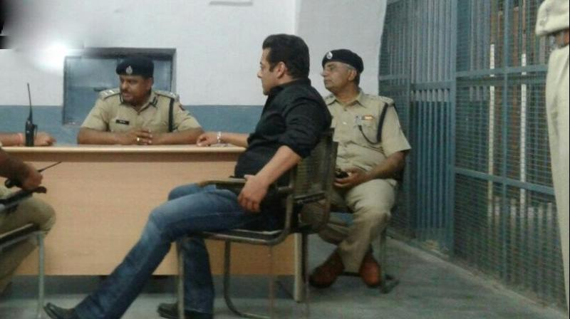 Jail superintendent said Salman Khan had a blood pressure issue when he came inside the jail and the doctor of the prison dispensary checked him. His blood pressure was later declared normal.(Photo: ANI | Twitter)